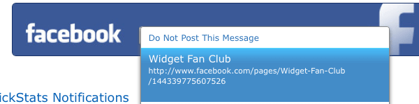Share Email on Facebook Fan Page
